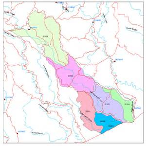 san bernard river map coastal hydrology water development board