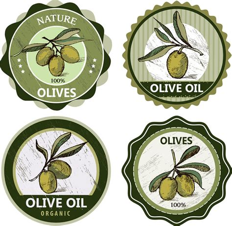 Olive Label Free Vector Graphic Download Olive Labels Templates