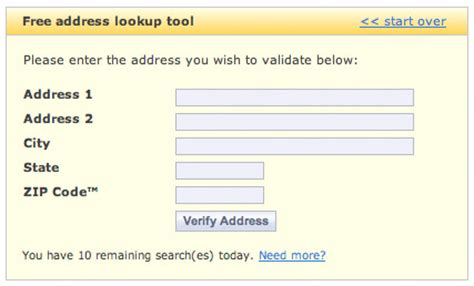 Usps Address Lookup Everyone A Freebie You Used These Free Address Verification
