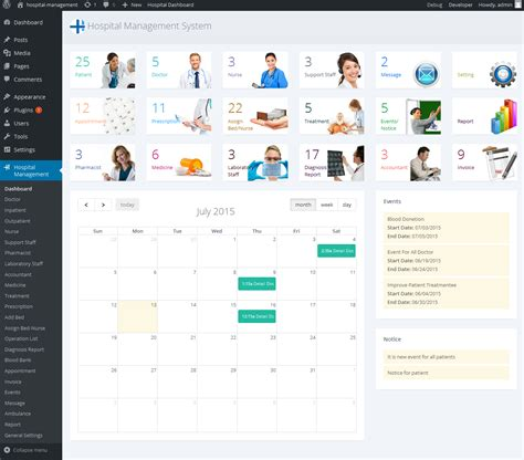 bootstrap templates for hospital management system hospital management system for wordpress by dasinfomedia