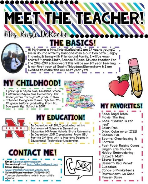 1000 Ideas About Teacher Newsletter On Pinterest Teacher Newsletter Templates Preschool Meet The Newsletter Templates