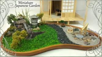 Mini Japanese Garden by Miniature Japanese Inspired Garden W Working Lantern