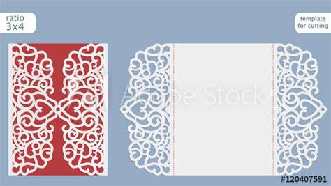 free vector template wedding card laser cut wedding invitation card template vector cut out