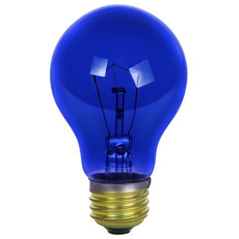 Light Bulb Lumens by Sunlite Incandescent 25 Watt A19 Blue Transparent 1250