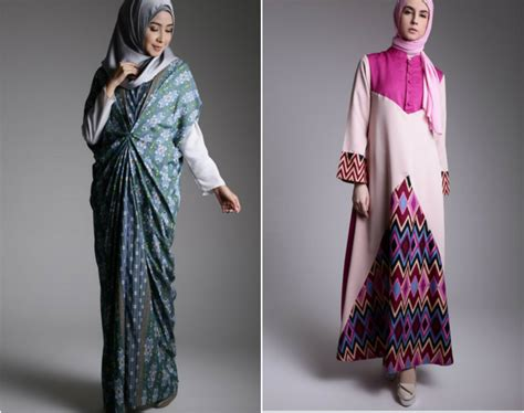 Pakaian Muslim Terbaru 15 paling hitz model baju batik muslimah modern terbaru