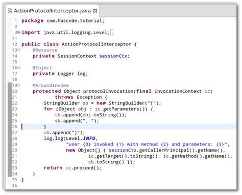 interceptor pattern in java hascode com 187 blog archive 187 java ee logging user