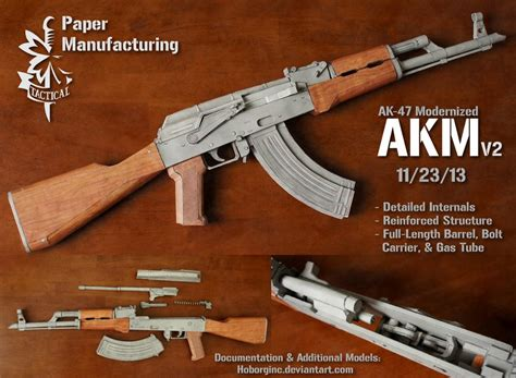 Papercraft Ak 47 - pm akm v2 by hoborginc on deviantart
