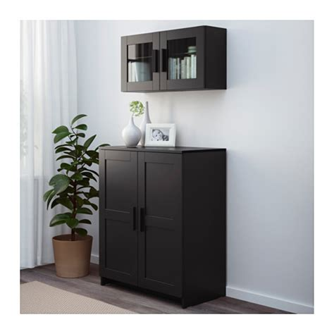 Armoire With Shelves by Brimnes Cabinet With Doors Black 78x95 Cm