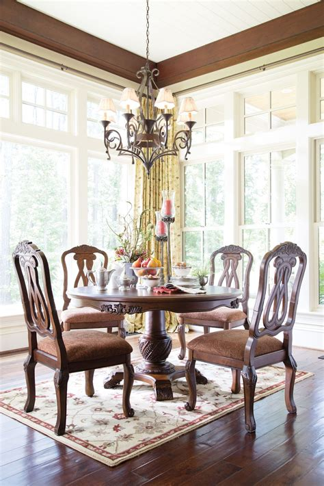 north shore dining room set north shore round pedestal dining room set ashley