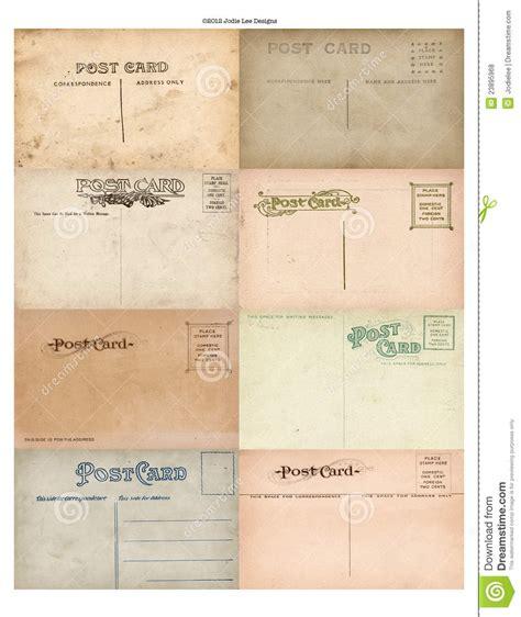 printable postcard stock antique vintage postcard set of 8 stock photo image