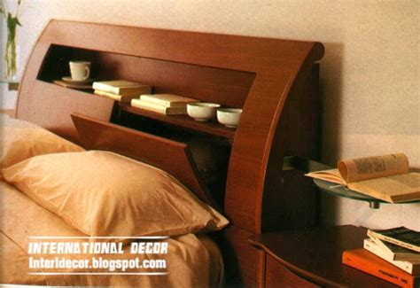 creative storage headboard designs  ideas