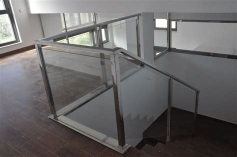 barandillas de acero inoxidable y cristal barandilla cristal escalera barandillas de cristal