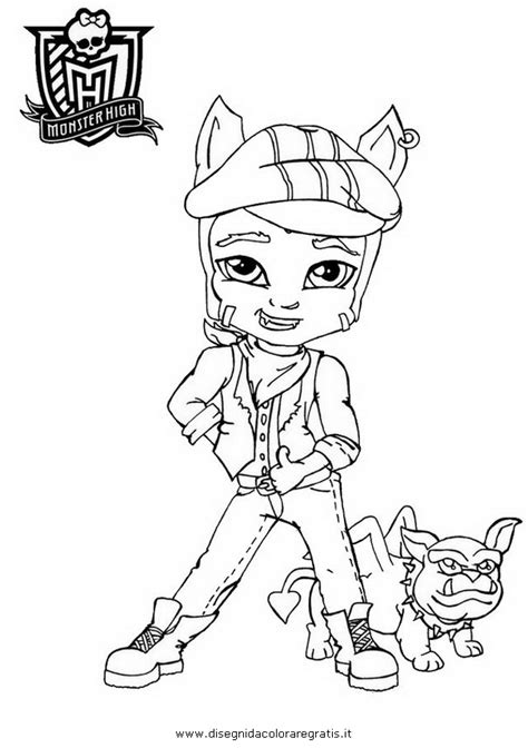 clawd wolf coloring pages hellokids com monster high clawd coloring pages clawd wolf baby
