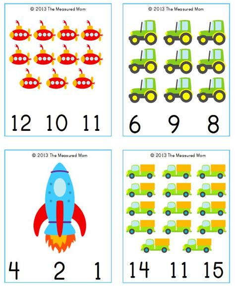 cute printable number cards free transportation printable transportation count clip