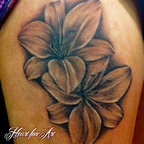 black and grey lily tattoo double grey ink lily flower tattoos tattooshunt com