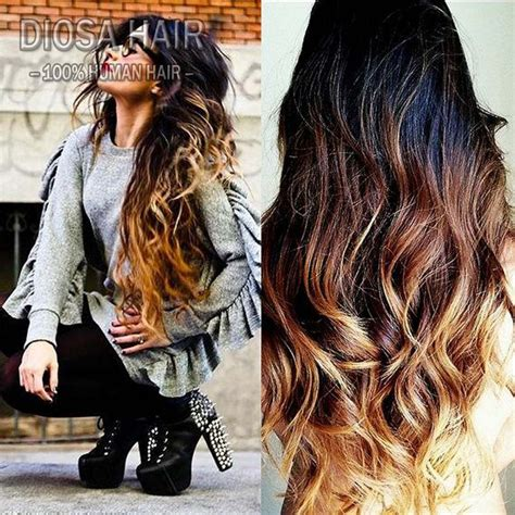 diosa lace ombre human hair wigs with bleached knots
