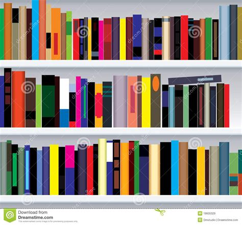 modern picture books bookshelf with books stock vector image of interior