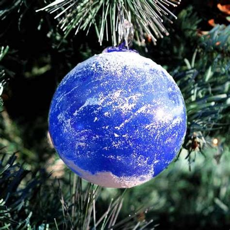 blown glass earth christmas ornament glasssculptureorg