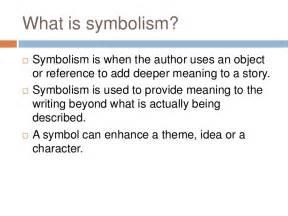 symbolism definition symbolism in literature