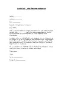 letter of harassment complaint template complaint letter about harassment hashdoc
