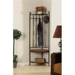 hallway storage bench with coat rack black metal corner entryway hallway storage bench
