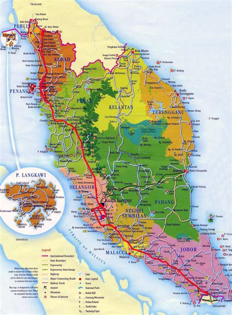 map of the maps of malaysia detailed map of malaysia in tourist map of malaysia road map of