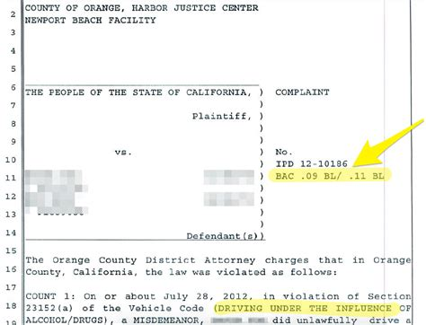 vehicle code section 23152 case study orange county dui dismissed orange county