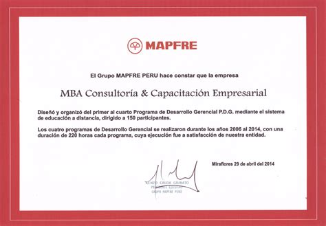 Mba A Distancia Peru by Servicios De Mba Consultores