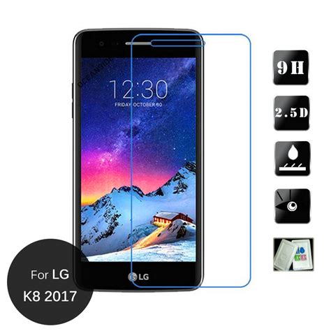 Tempered Glass Lg K8 2017 X300 M200n 5 0 Inchi Screen Guard Antigores for lg k8 2017 5 0 inch tempered glass screen protector 2 5 9h safety protective on k 8