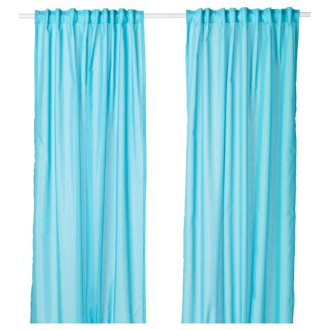 living room turquoise blue curtain panels teal and brown
