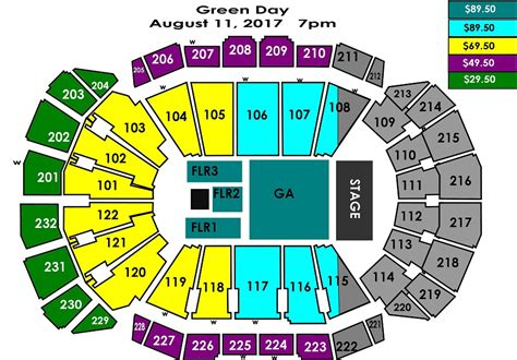 sprint center concert seating capacity green day sprint center