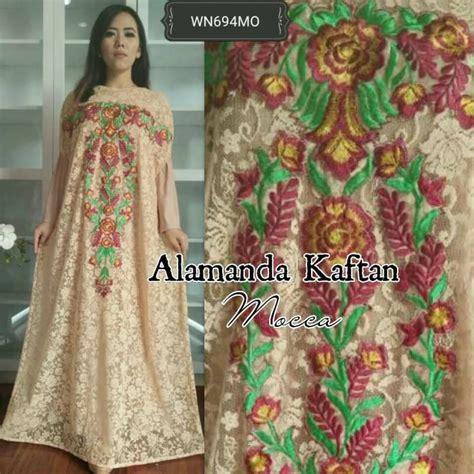 Gamis Kaftan Abaya Girly Mocca baju gamis pesta alamanda brokat busana muslim resepsi