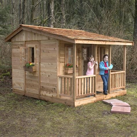 lowes cabin kits outdoor living today ccp97 9 ft x 7 ft cedar cozy cabin