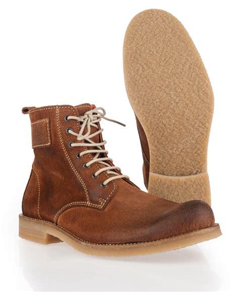superdry mens boots sale new mens superdry ellis boots suede cognac brown svh ebay
