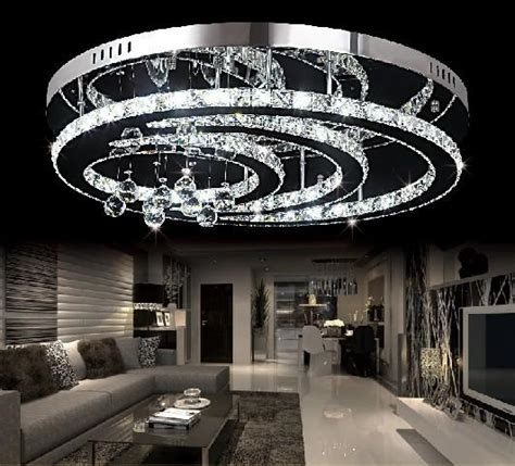 design  crystal led chandelier ceiling living room