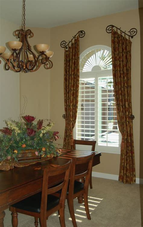 country window treatments tuscan country window treatments dining rooms