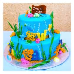 the sea theme baby shower cake great ideas