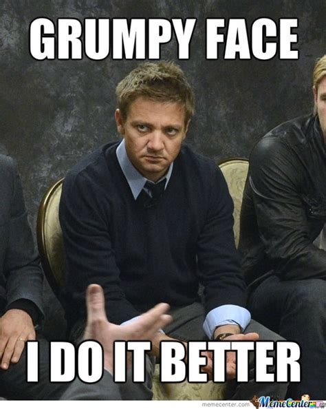 Grumpy Face Meme - grumpy face by sambus7 meme center