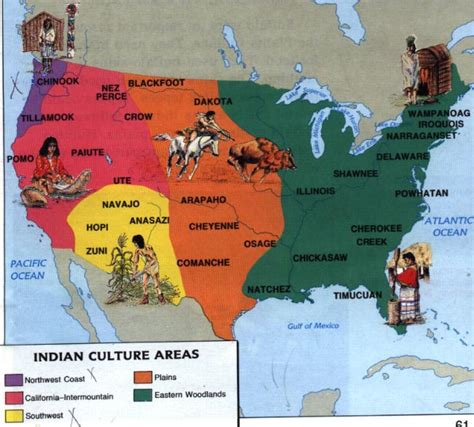 american tribes by map americans history esl resources