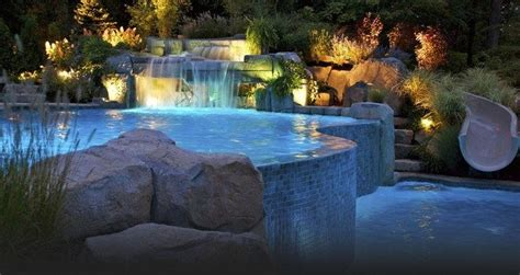 pool waterfall ideas   recreate   backyard
