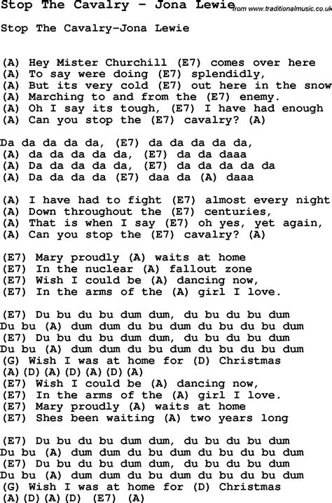 song ukulele song stop the cavalry by jona lewie song lyric for vocal