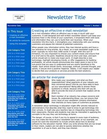 free newsletter templates downloads for word email newsletter template free documents for