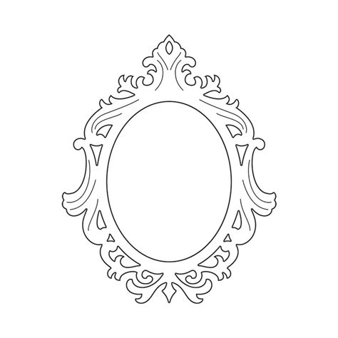 oval template printable vector sizzix thinlits die frame ornate oval cnc