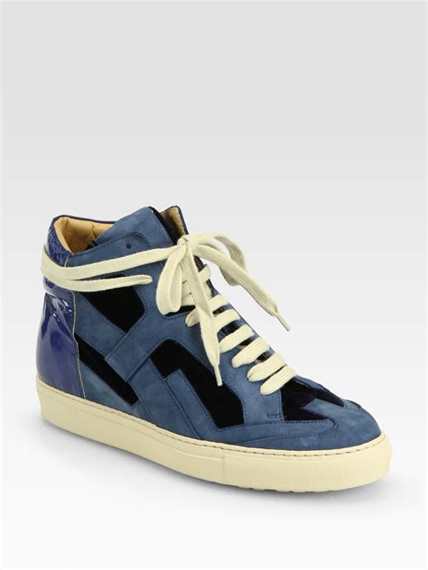 blue margiela sneakers maison martin margiela mixed media laceup sneakers in blue
