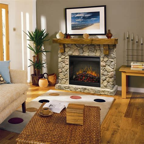 Fireplaces For Flat Walls by Rustic Fieldstone Flat Wall Fireplace By Dimplex Wolf