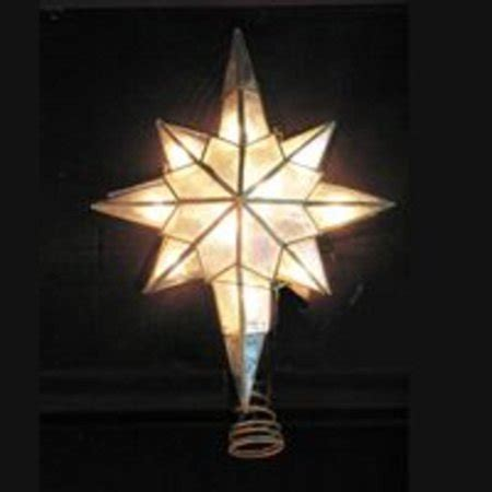 bethehem star plans 11 quot lighted capiz bethlehem gold trim tree topper clear lights walmart