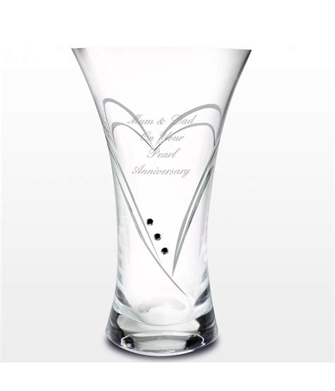 Swarovski Vases Uk by Personalised Vase Swarovski Just For Gifts