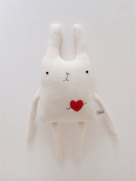 Handmade Stuffed Bunny - handmade stuffed bunny toys with hearts s day