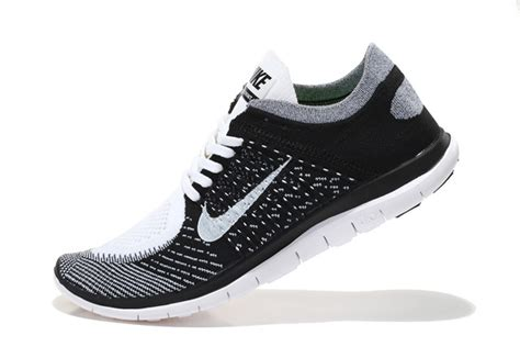 nike running shoes black and white for