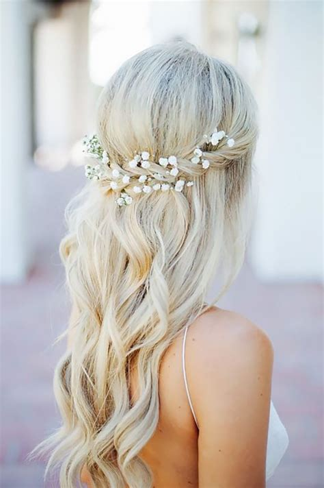 95 best images about flower hairstyles on best 25 half up wedding hair ideas on bridal